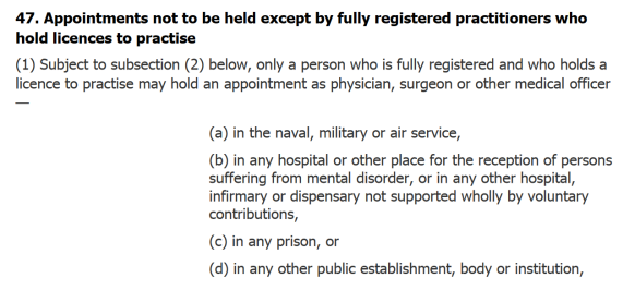 Independent Non Prescribing Medical Doctors Do Not Need A Licence