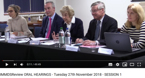 Screenshot_2019-08-12 IMMDSReview ORAL HEARINGS - Tuesday 27th November 2018 - SESSION 1 - YouTube