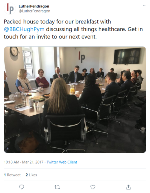 Screenshot_2019-08-27 LutherPendragon on Twitter Packed house today for our breakfast with BBCHughPym discussing all things[...]