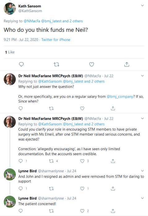 Screenshot_2020-08-14 Kath Sansom on Twitter NMacFa bmj_latest DryBreadnRadio eturnermd1 Who do you think funds me Neil Twi[...]